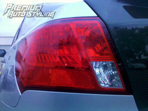 2008-2014 WRX & STI / 2008-2011 Impreza Sedan Tail Light Overlay (Top Half Red Out)