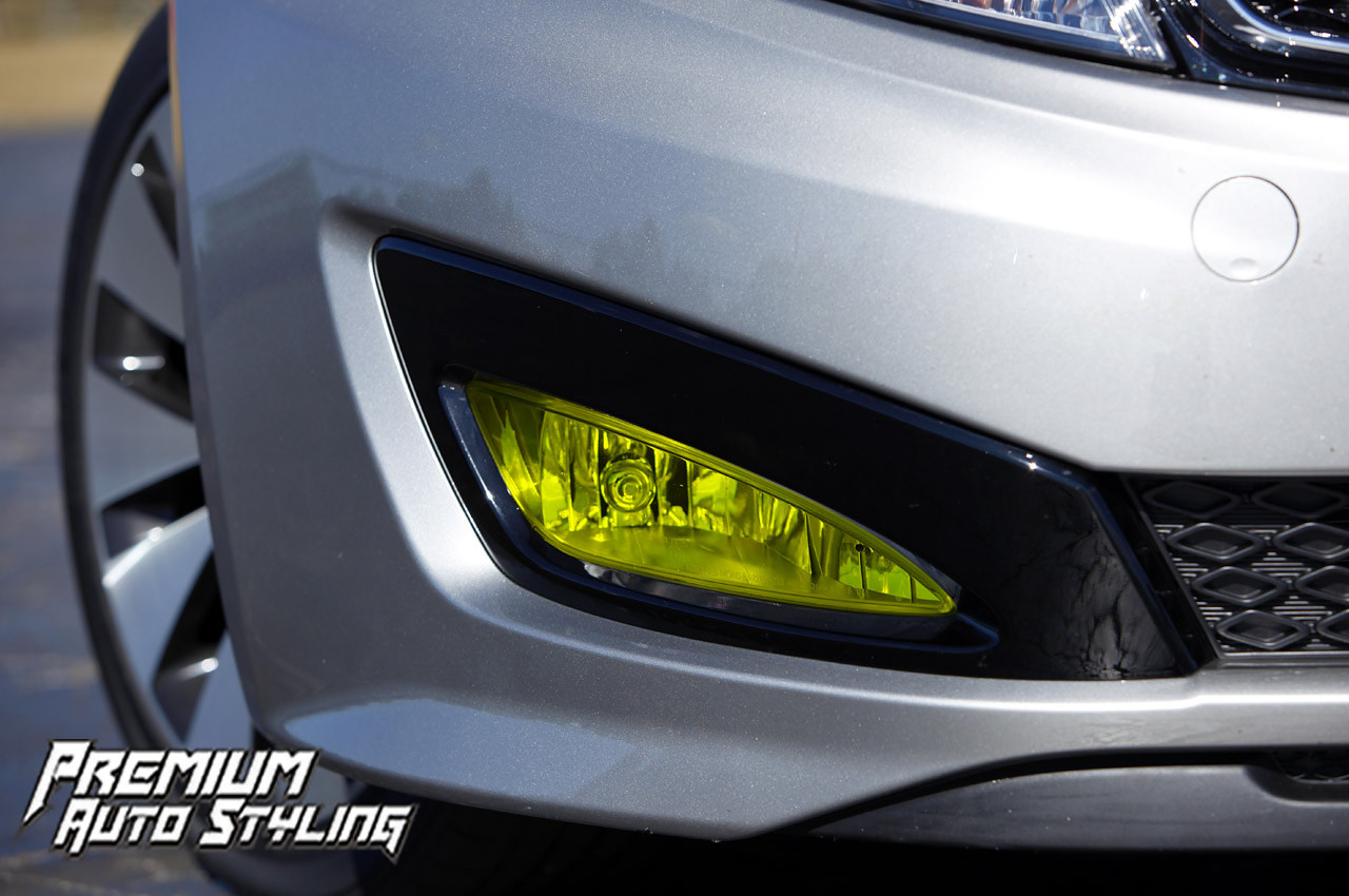 kia optima yellow fog light tint overlays. Black Bedroom Furniture Sets. Home Design Ideas