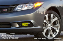 2012 Honda Civic SI Yellow Fog Light Vinyl Tint Overlays