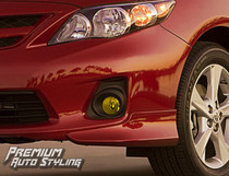 Toyota Corolla Yellow Tint Fog Light Vinyl Overlays  By: Premium Auto Styling