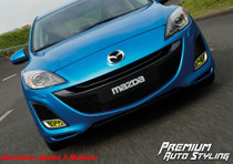 Mazda3 Yellow Vinyl Tint Fog Light Overlays