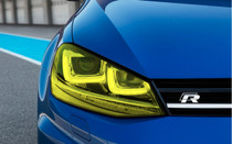 Yellow Headlight Tint Overlays (2014-2017 Golf & GTI)