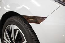 Smoked Front Side Reflector Light Overlays (2016-2017 Civic Sedan)