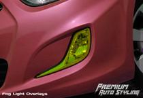 2011 - 2012 Hyundai Accent Yellow Tint Fog Light Vinyl Overlays FITS: Sedan & Hatchback