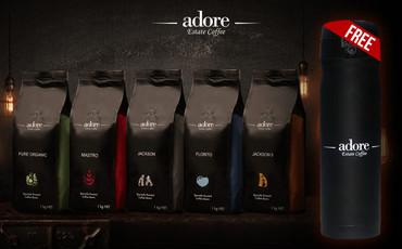 Adore Estate Coffee + FREE Adore matte black flask