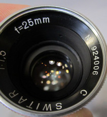 Kern Paillard 1.5/25mm C-Mount Lens (No. 924006)