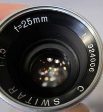 Kern Paillard 1.5/25mm C-Mount Lens (No. 924006)