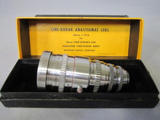 Kodak Anastigmat Cine 1.6 / 50mm C-Mount Lens (No. EC768)