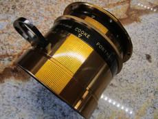 Taylor Hobson Cooke 5.6 / 393mm Large Format Soft Focus BRASS Field Camera Lens