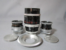Super-16 Kern Switar 16mm, 25mm, 75mm C-Mount Lens Set