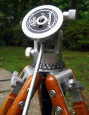 Collector's Swiss Bolex Wood + Aluminum Tripod for 16mm Movie Camera