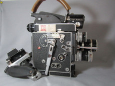 WRBL TV3 CBS Collector's Bolex Rex-5 16mm Movie Camera Set with Kern Lenses