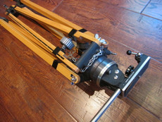 NEW Old Stock - German Arriflex Wood Tripod and Tripod Head for 16mm or 35mm Movie Camera