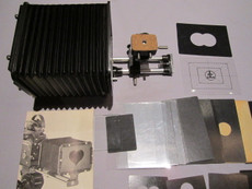 Bolex Matte Box Assembly + Lens Support for 16mm Movie Camera