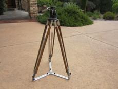 NICE Heavy Duty Wood Tripod, Tripod Head, and Spreader for 16mm Movie Camera
