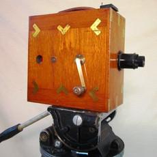 Williamson Tropical / Ensign Cinematograph Hand Crank Wood 35mm Movie Camera