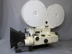 White Military Rackover Mitchell GC Hand Crank 35mm Movie Camera