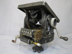 SOLD - Mitchell Geared Tripod Head with Veeder Counter for Wood Tripod