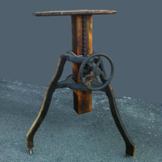 Hand Crank Iron & Wood Tripod - For Antique Wood Field Cameras