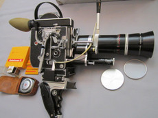 1965 Bolex Rex-4 16mm Movie Camera Package
