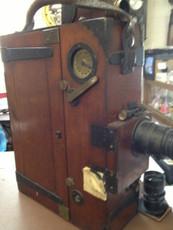 Prestwich Hand Crank 35mm Wood Movie Camera | Hand Crank | Prestwich Camera | Vintage Movie Camera