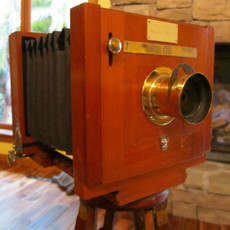 1889 Rochester 4x5 Folding Wood Field Camera