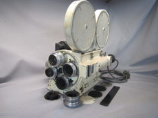 Mitchell Navy / Military Rackover 16mm Movie Camera Set | Baltar Lenses | Vintage Movie Camera