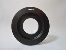 Black Magic BMPCC 4/3 to C-Mount Adapter | Digital 4/3 Adapter