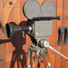 Bach Auricon Blimped Pro-600 16mm Movie Camera & Tripod