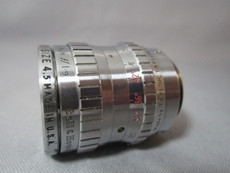 Super-16 Taylor Hobson 1.9 / 25mm C-Mount Lens (No 429881) | BMPCC Lens | 16mm Movie Camera