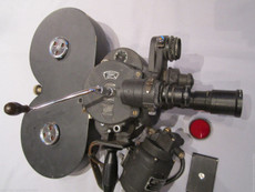 HAND CRANK Bell & Howell Military Eyemo 35mm Movie Camera Package