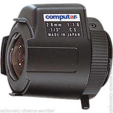 NEW Computar Wide Angle 1.6 / 2.6mm C-Mount (CS) Lens | CCTV Lens | Security Camera
