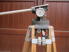Antique Grey Army Military Professional Junior Wood Tripod | 16mm Movie Camera Tripod
