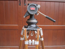 O'Conner Fluid Head Wood Tripod for 16mm and 35mm Movie Cameras