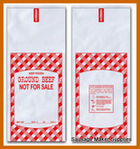 GROUND BEEF MEAT BAGS -1 # SIZE (100 QTY)