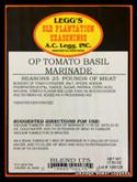 A.C. LEGG OLD PLANTATION TOMATO BASIL MARINADE BLEND # 175