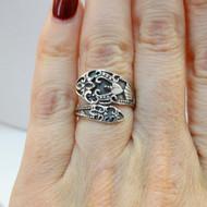 925 Sterling Silver Fancy Spoon Ring