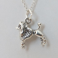 925 Sterling Silver Poodle Charm Necklace