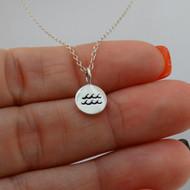 925 Sterling Silver Aquarius Necklace