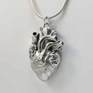 925 Sterling Silver Anatomical Heart Locket Necklace