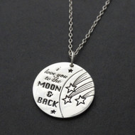 I Love You To The Moon and Back Necklace in Sterling Silver