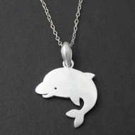 925 Sterling Silver Dolphin Charm Necklace