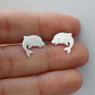 925 Sterling Silver Dolphin Stud Earrings