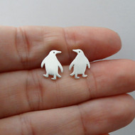 925 Sterling Silver Penguin Earrings