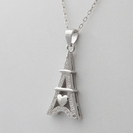 925 Sterling Silver Eiffel Tower Necklace