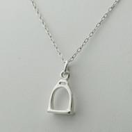 Sterling Silver Stirrup Necklace