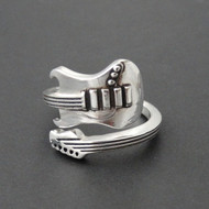 Sterling Silver Electric Guitar Ring