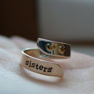 Adjustable Sisters Ring - 925 Sterling Silver