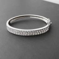Baby Bangle Bracelet - 925 Sterling Silver with CZ