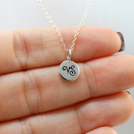 Tiny Capricorn Sign Charm Necklace - Sterling Silver